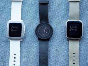 ความแตกต่าง Pebble Time, Pebble Time Steel และ Pebble Time Round